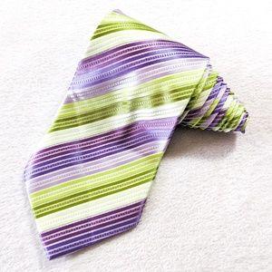 GIORGIO ARMANI Green Purple Striped Tie